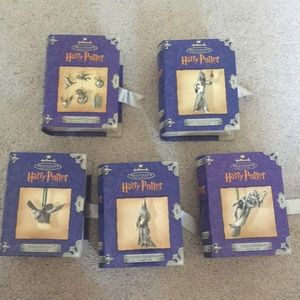 Bundle of 5 Harry Potter Hallmark ornaments